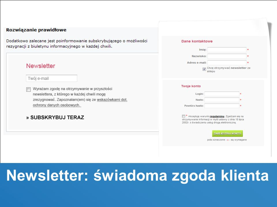 © 2010 Trusted Shops, Confidential Newsletter: świadoma zgoda klienta