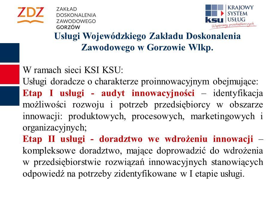 Usługi Wojewódzkiego Zakładu Doskonalenia Zawodowego w Gorzowie Wlkp.
