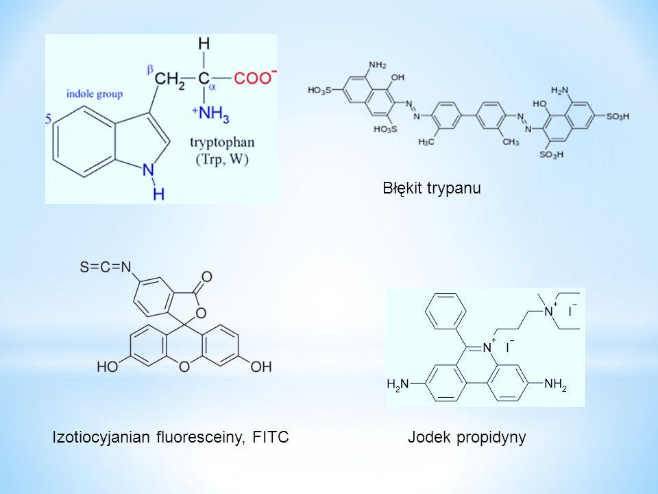 Izotiocyjanian fluoresceiny, FITC Błękit trypanu Jodek propidyny