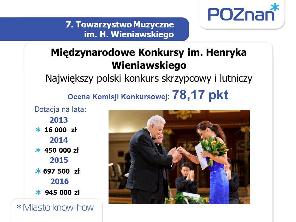 7. Towarzystwo Muzyczne im. H. Wieniawskiego Międzynarodowe Konkursy im.