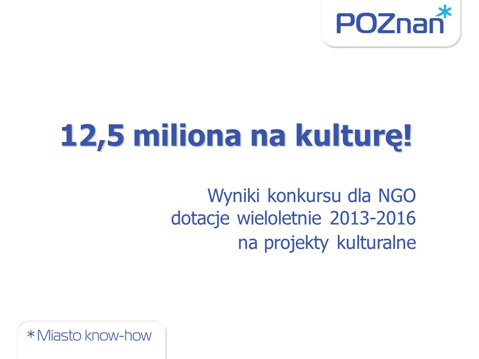 12,5 miliona na kulturę.