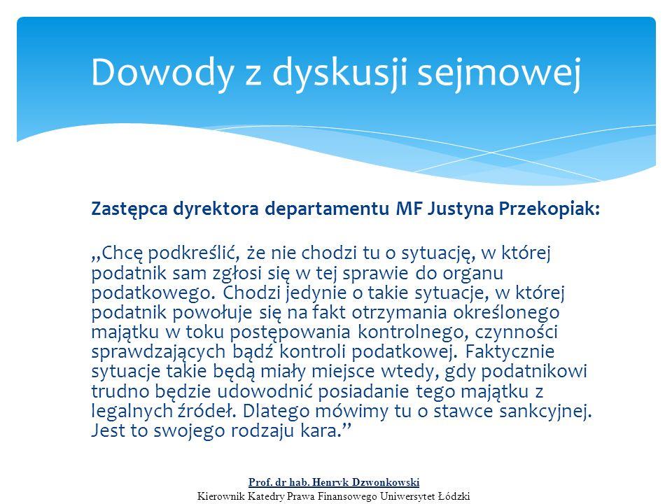 """Zastępca dyrektora departamentu MF Justyna Przekopiak: """"Chcę podkreślić, że nie chodzi tu o sytuację, w której podatnik sam zgłosi się w tej sprawie d"""
