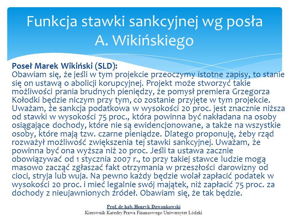 Poseł Marek Wikiński (SLD): Obawiam się, że jeśli w tym projekcie przeoczymy istotne zapisy, to stanie się on ustawą o abolicji korupcyjnej. Projekt m
