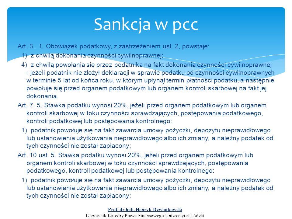 Decyzja określająca sankcyjną stawkę zobowiązania podatkowego w podatku od czynności cywilnoprawnych wydana w oparciu o art.