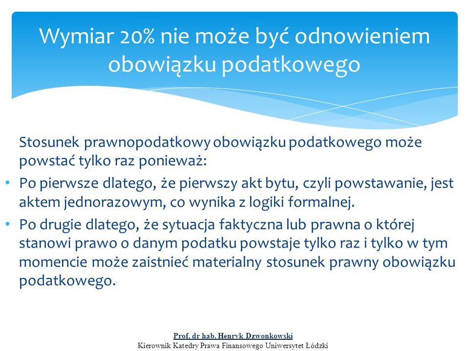 Sankcja czy przywilej .Prof. dr hab.