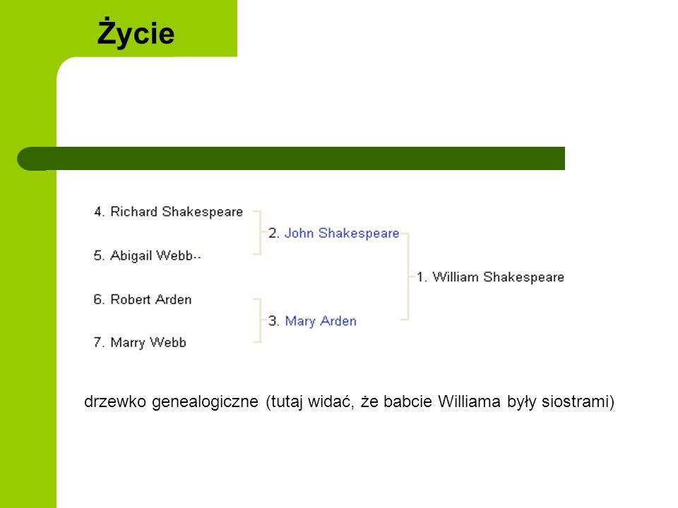 Życie drzewko genealogiczne (tutaj widać, że babcie Williama były siostrami)