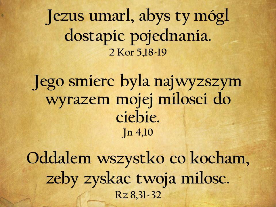 Jezus umarl, abys ty mógl dostapic pojednania.