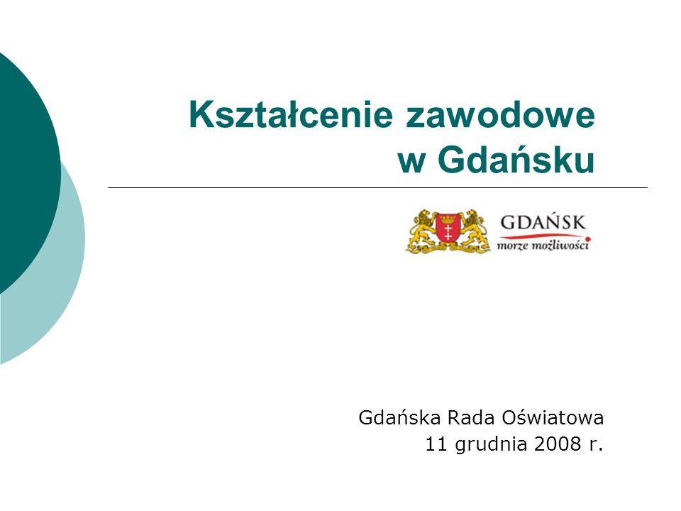Kształcenie zawodowe w Gdańsku Gdańska Rada Oświatowa 11 grudnia 2008 r.
