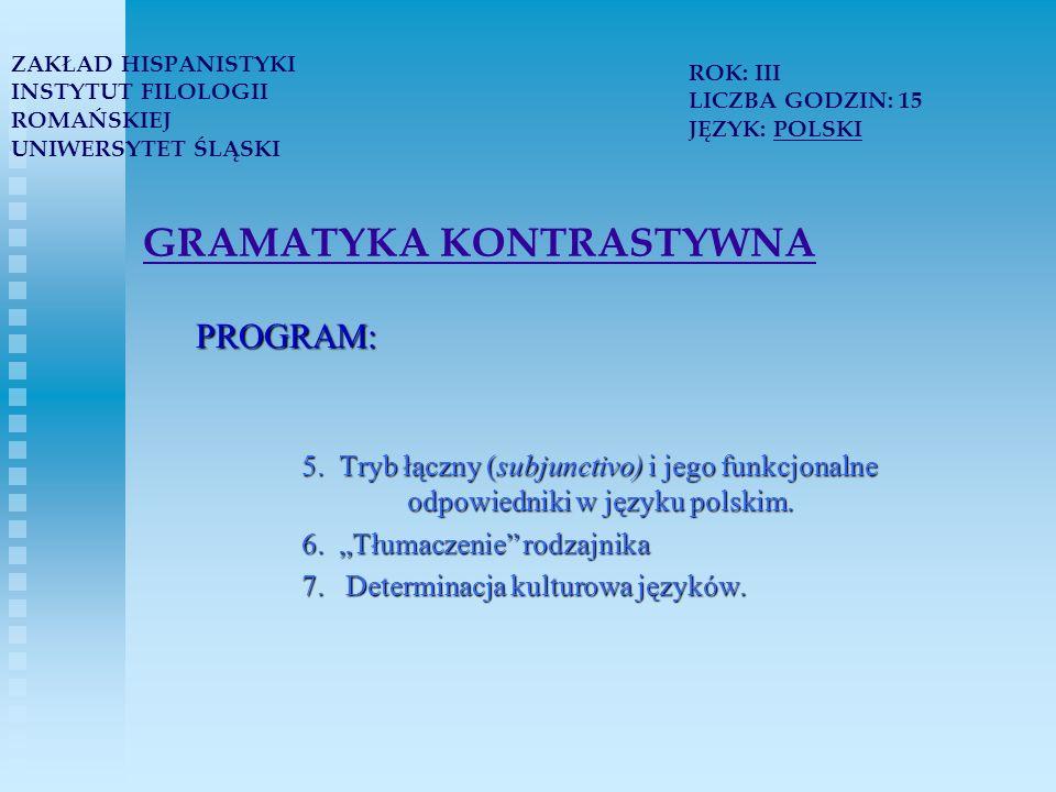 TEORIA I PRAKTYKA PRZEKŁADU PROGRAM: 3.Najważniejsze kierunki badań translatologicznych 4.