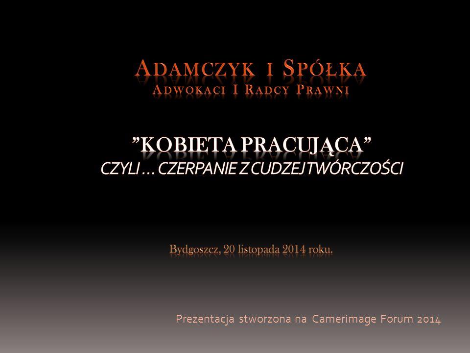 Prezentacja stworzona na Camerimage Forum 2014