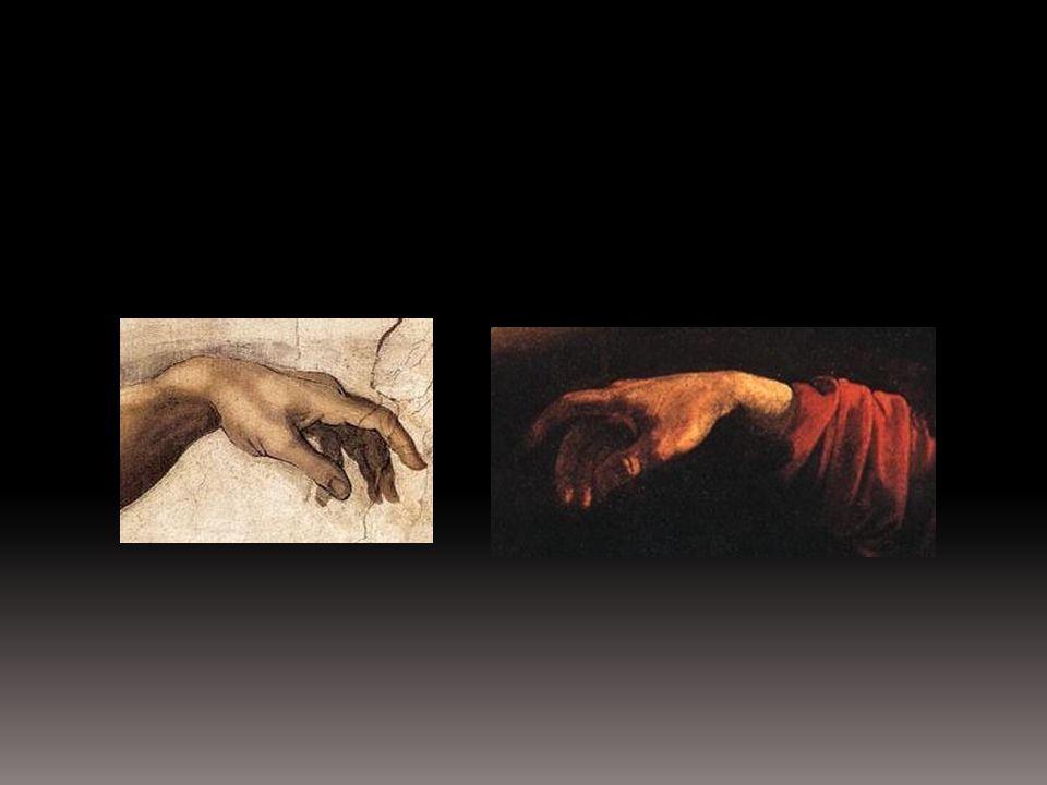 """Michał Anioł Buonarroti 1475-1564 """"Stworzenie Adama fresk wykonany około 1511 roku."""