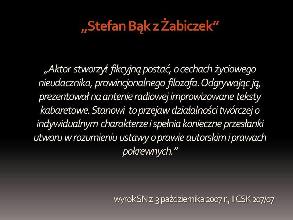 """""""Stefan Bąk z Żabiczek """"Aktor stworzył fikcyjną postać, o cechach życiowego nieudacznika, prowincjonalnego filozofa."""