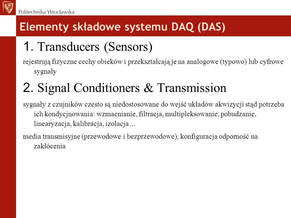 Elementy składowe systemu DAQ (DAS)  1.