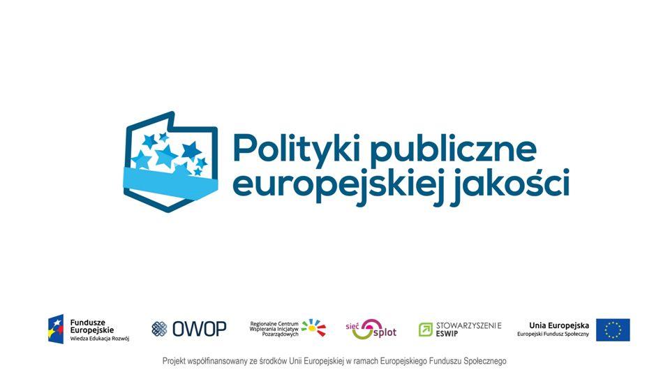 CEL PROJEKTU Celem projektu jest zwiększenie kompetencji oraz jakości i efektywności działania 560 pracowników/czek instytucji odpowiedzialnych za kreowanie i/lub wdrażanie polityk publicznych na szczeblu lokalnym w zakresie: -współpracy administracji z NGO, -wsparcia przedsiębiorczości społecznej i/lub -prowadzenia konsultacji społecznych