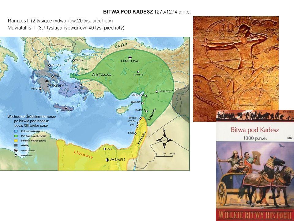BITWA POD KADESZ 1275/1274 p.n.e. Ramzes II (2 tysiące rydwanów;20 tys.