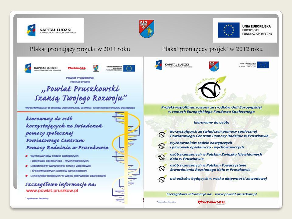 Plakat promujący projekt w 2011 roku Plakat promujący projekt w 2012 roku