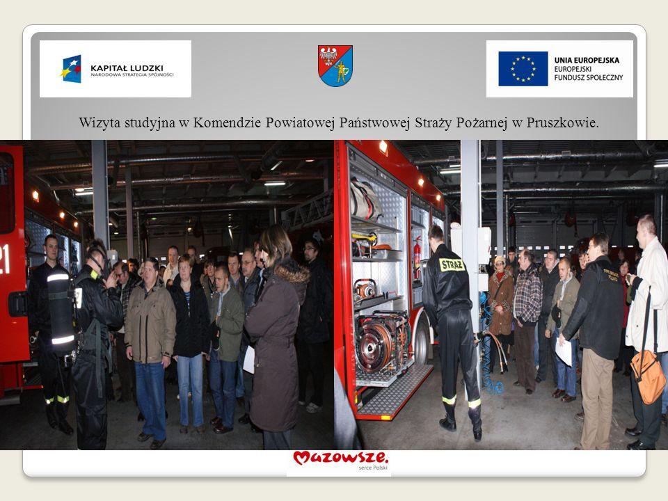 Wizyta studyjna w Komendzie Powiatowej Państwowej Straży Pożarnej w Pruszkowie.