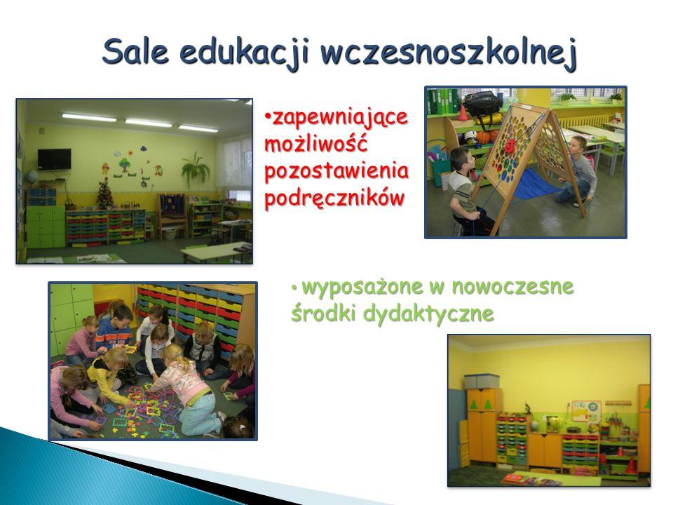Sale edukacji wczesnoszkolnej wyposażone w nowoczesne środki dydaktyczne wyposażone w nowoczesne środki dydaktyczne zapewniające możliwość pozostawien