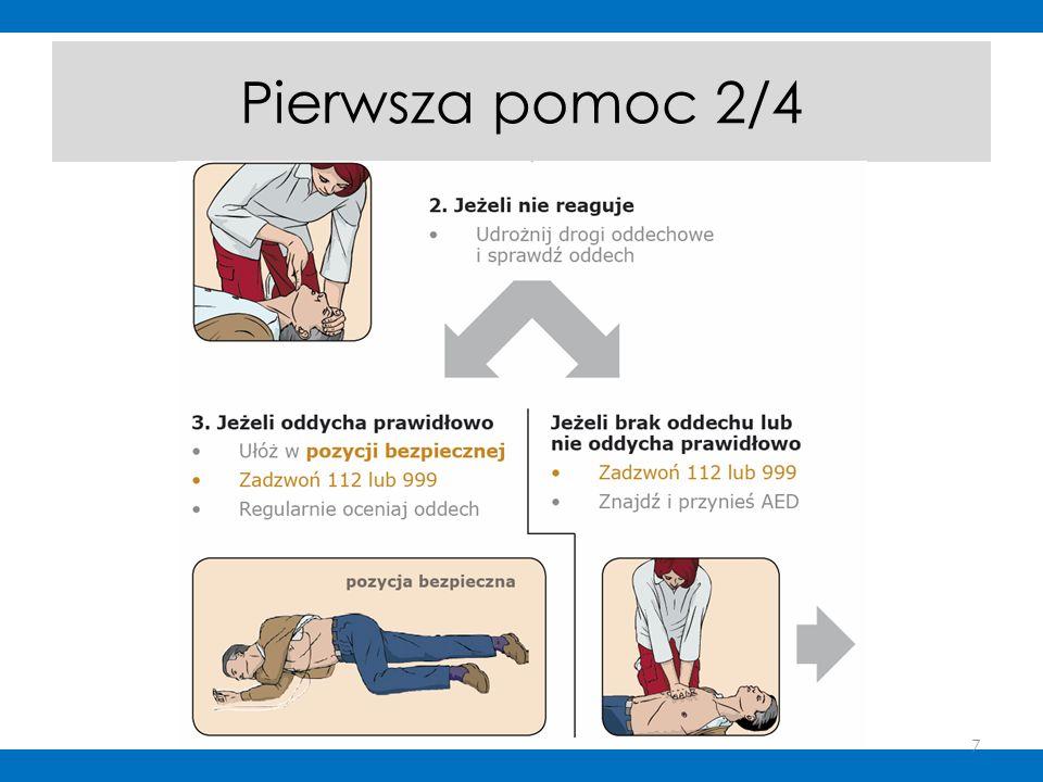 PODSUMOWANIE CAŁEGO KURSU Pierwsza pomoc powinna być przeprowadzona bezpiecznie i sprawnie 30 ucisków : 2 oddechy - to klucz do skutecznej resuscytacji Bądź stanowczy i zdecydowany Pamiętaj, że od Ciebie zależy zdrowie i życie człowieka 28