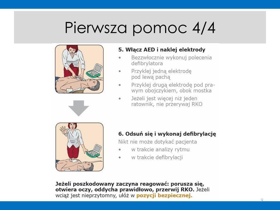 Bądź gotów na krwawienie z nosa: - posadzić i pochylić głowę w dół - zacisnąć lub zasłonić gazą nos na 10 minut - jak po 10 minutach krwawienie nie następuje wezwać lekarza 20
