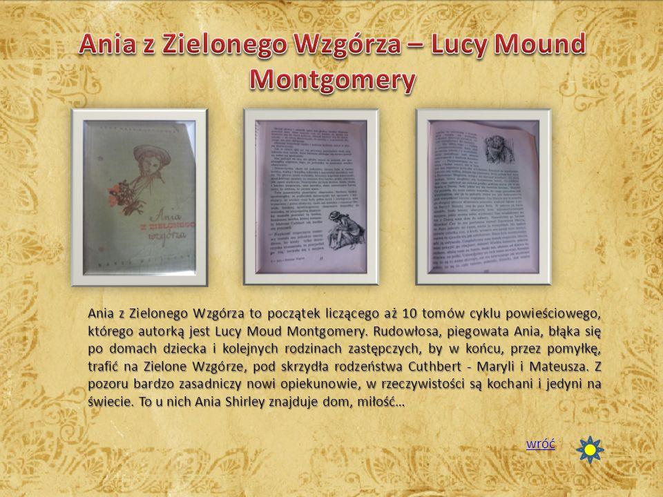 Ania z Zielonego Wzgórza to początek liczącego aż 10 tomów cyklu powieściowego, którego autorką jest Lucy Moud Montgomery. Rudowłosa, piegowata Ania,