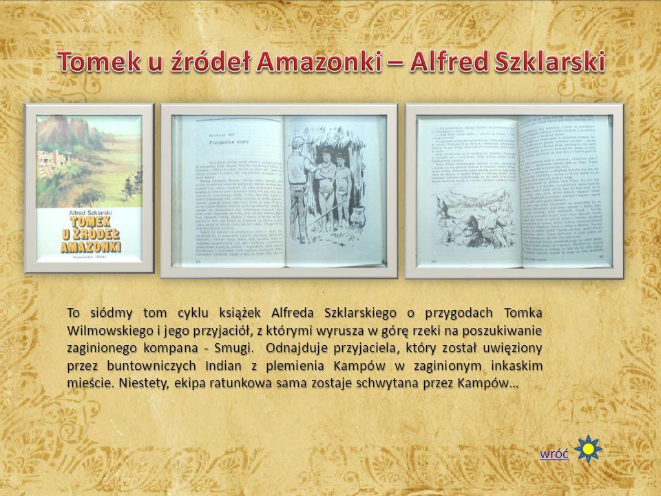 To siódmy tom cyklu książek Alfreda Szklarskiego o przygodach Tomka Wilmowskiego i jego przyjaciół, z którymi wyrusza w górę rzeki na poszukiwanie zag