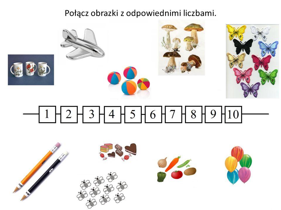 Połącz obrazki z odpowiednimi liczbami.