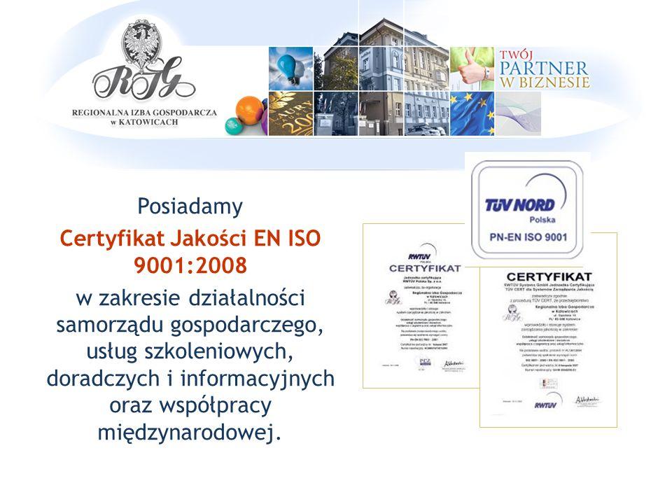 Jesteśmy Laureatem XVI edycji Polskiej Nagrody Jakości w kategorii organizacje samorządu gospodarczego.