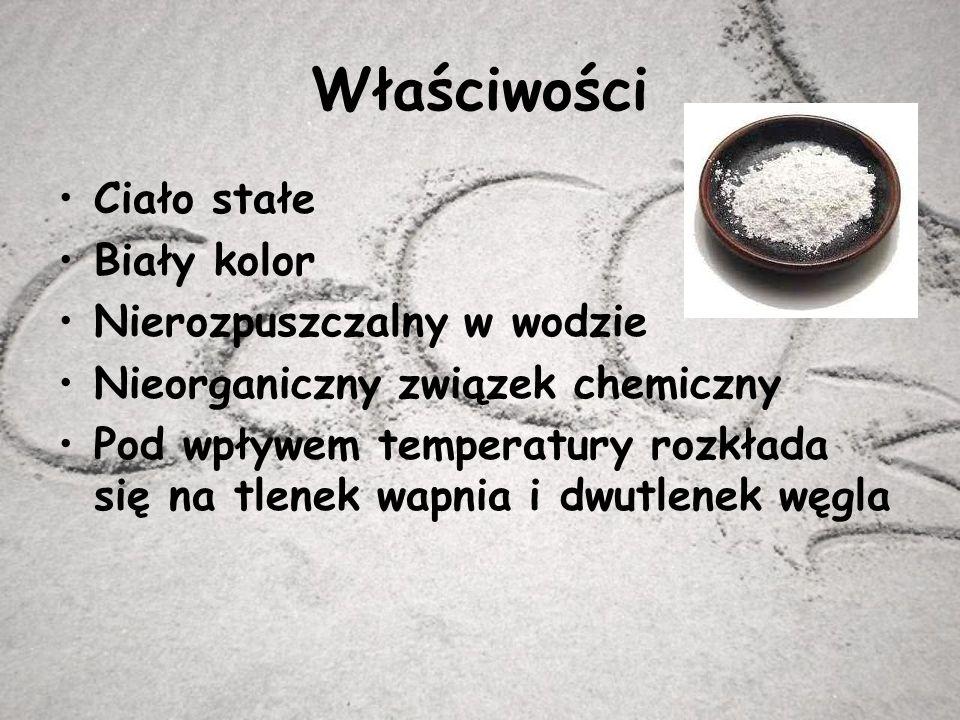 Występowanie Węglan wapnia jest szeroko rozpowszechniony w przyrodzie, jest podstawowym składnikiem wielu minerałów np.