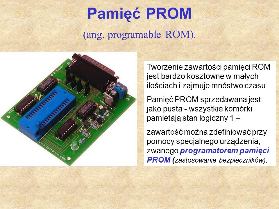 Pamięć PROM (ang. programable ROM).