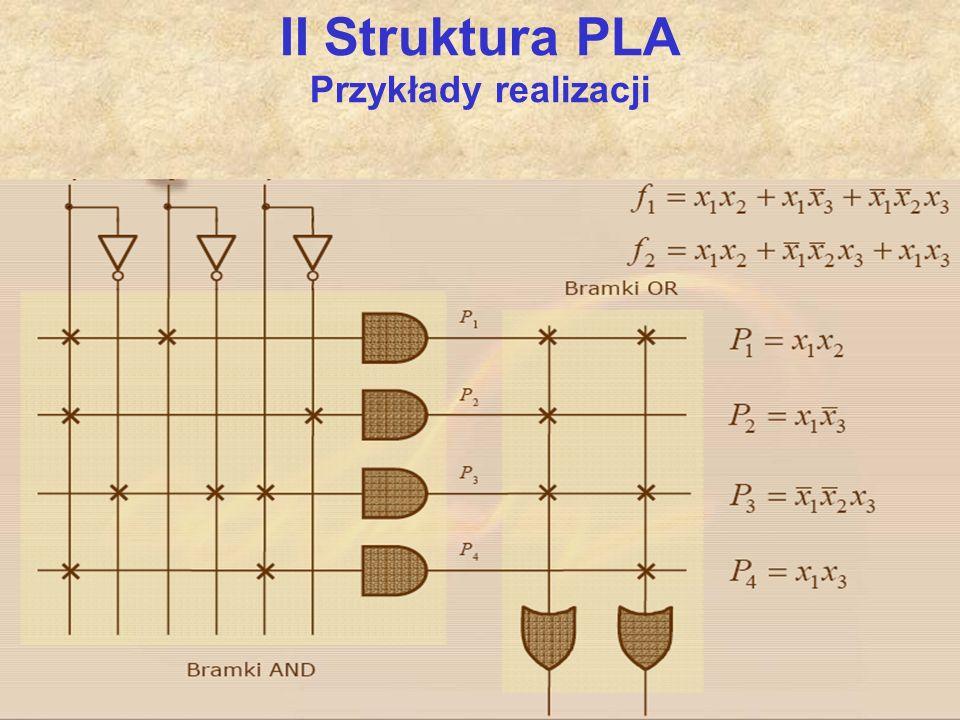 II Struktura PLA Przykłady realizacji
