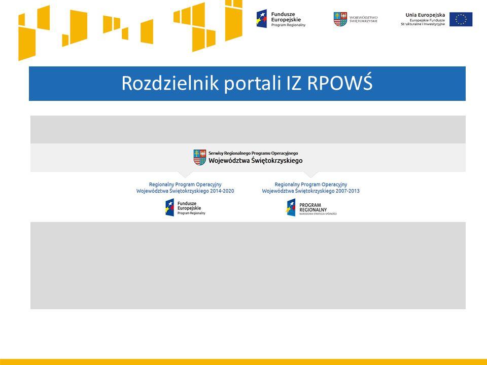 Rozdzielnik portali IZ RPOWŚ