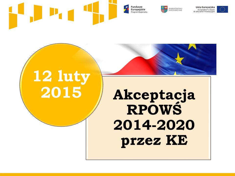 Akceptacja RPOWŚ 2014-2020 przez KE 12 luty 2015