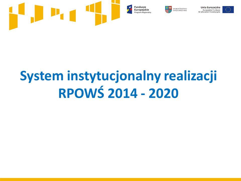 System instytucjonalny realizacji RPOWŚ 2014 - 2020
