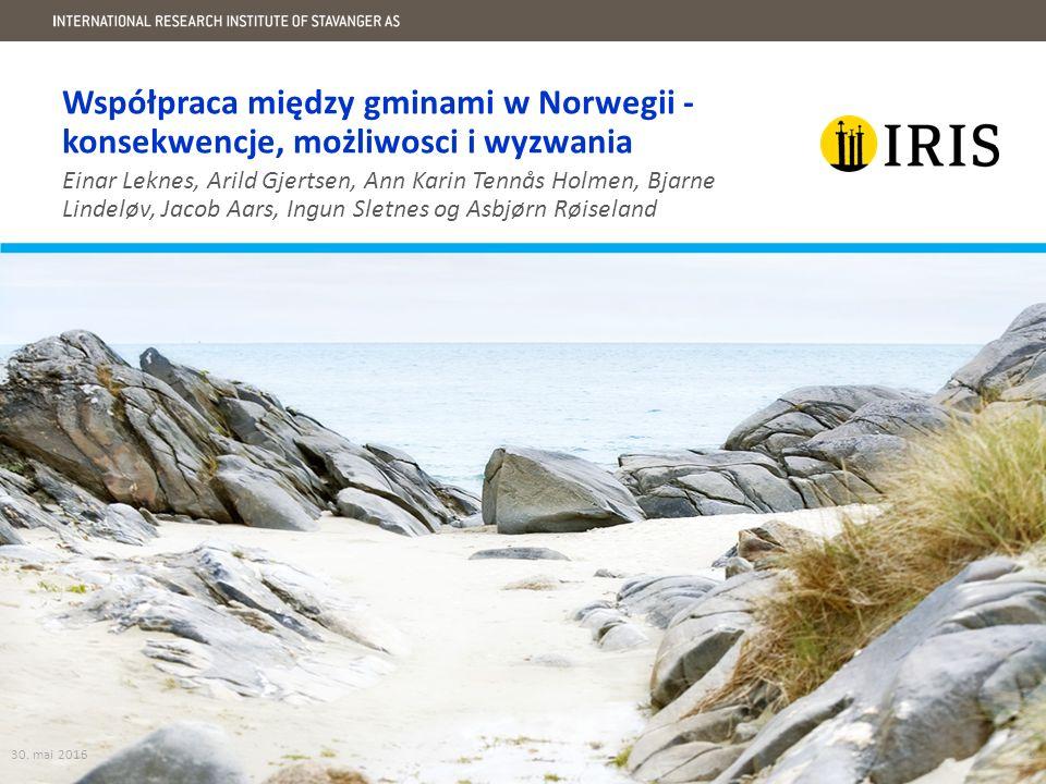 Współpraca między gminami w Norwegii - konsekwencje, możliwosci i wyzwania 30.