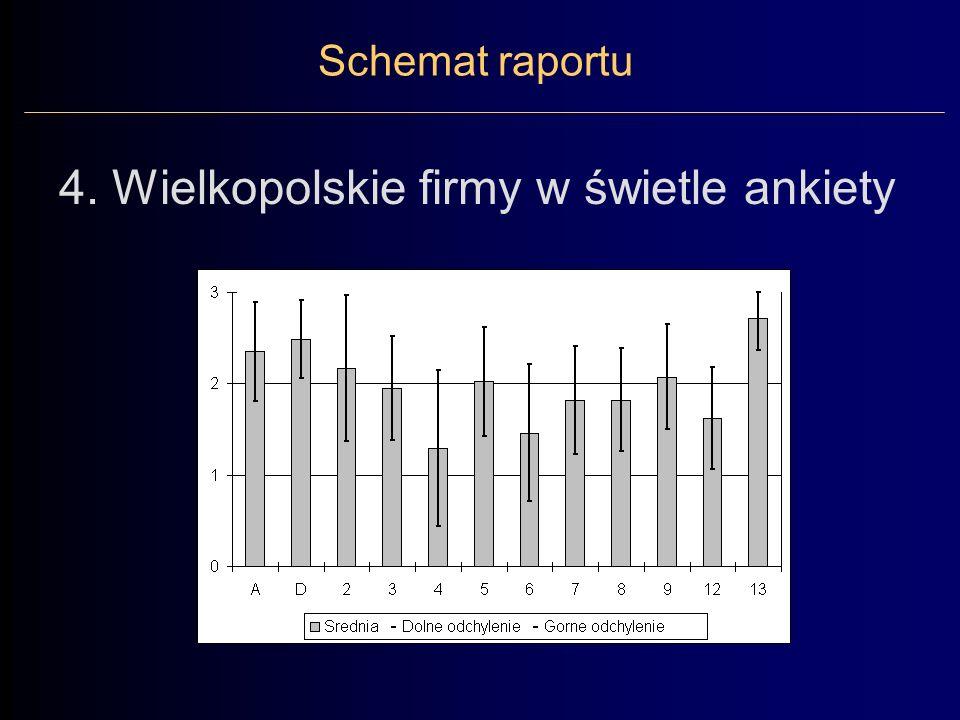 Schemat raportu 4. Wielkopolskie firmy w świetle ankiety