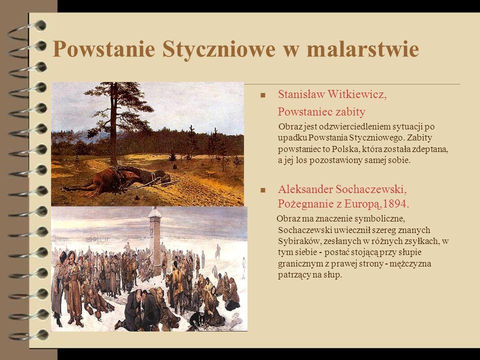Powstanie Styczniowe w malarstwie Stanisław Witkiewicz, Powstaniec zabity Obraz jest odzwierciedleniem sytuacji po upadku Powstania Styczniowego. Zabi