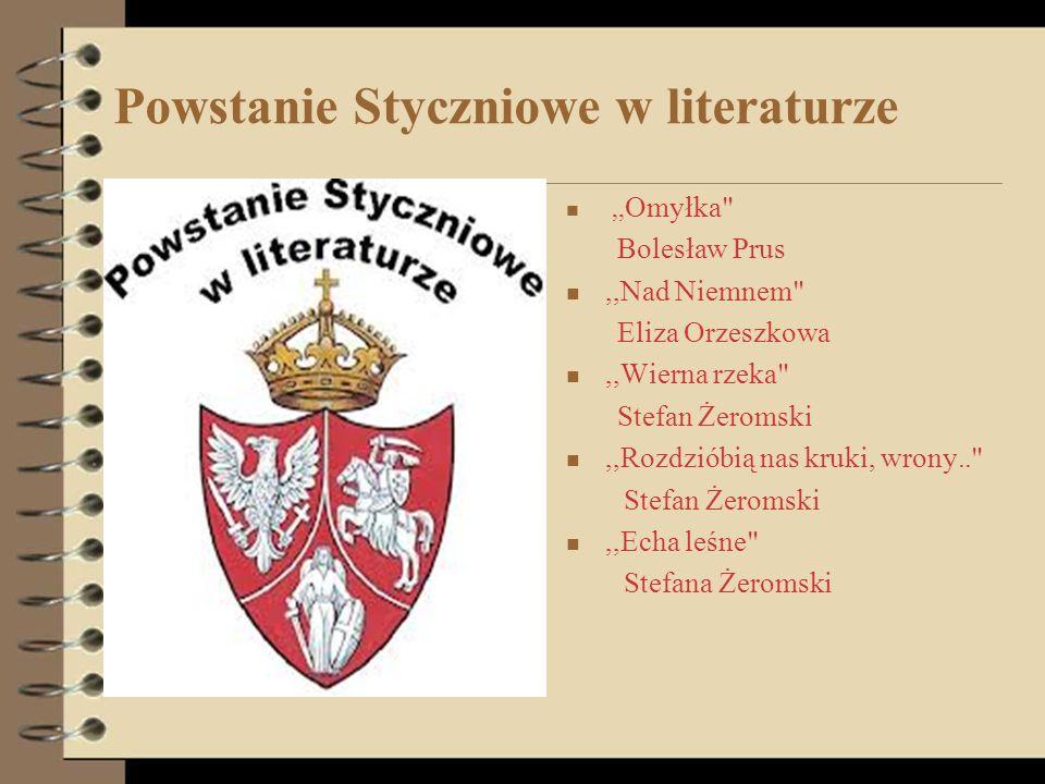 Powstanie Styczniowe w literaturze,, Omyłka