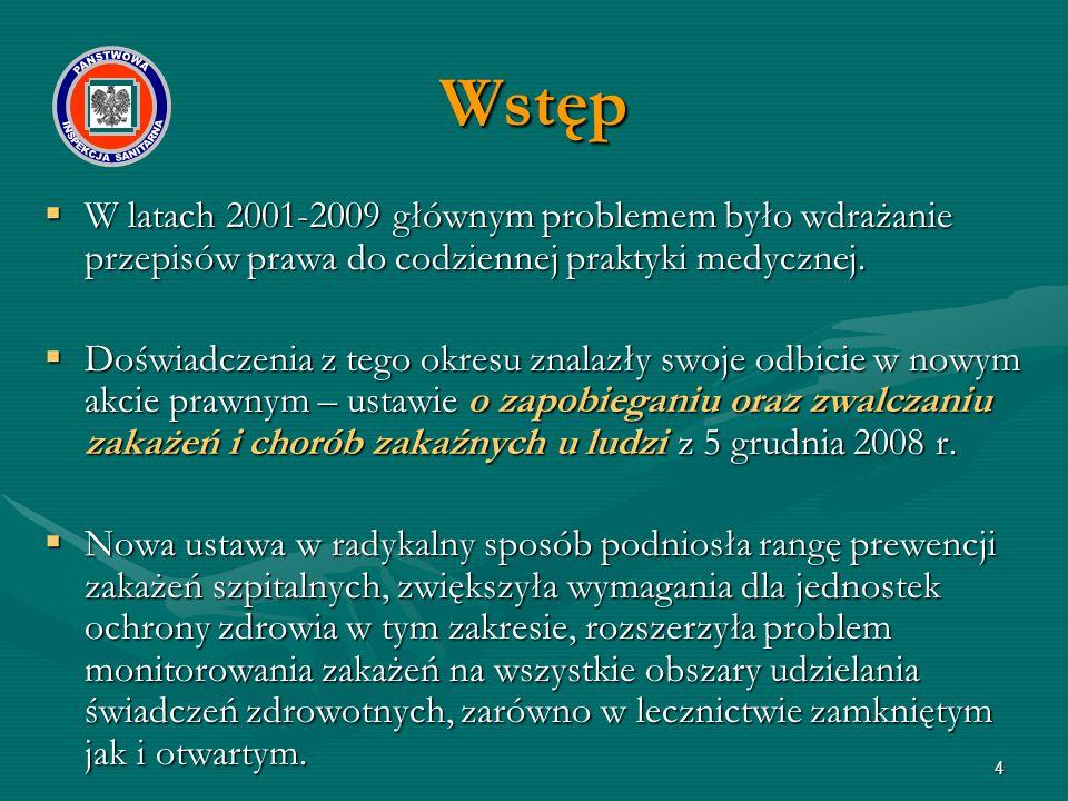 W latach 2001-2009 głównym problemem było wdrażanie przepisów prawa do codziennej praktyki medycznej.  Doświadczenia z tego okresu znalazły swoje o