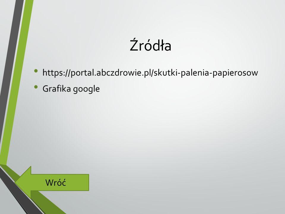 Źródła https://portal.abczdrowie.pl/skutki-palenia-papierosow Grafika google Wróć