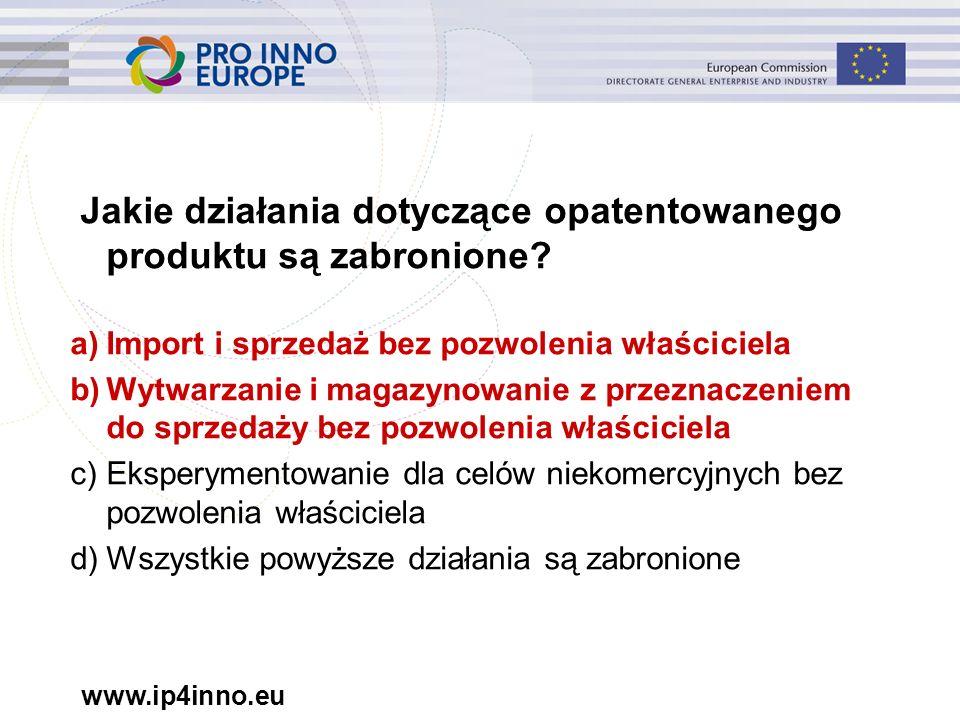 www.ip4inno.eu Koszty postępowania spornego obejmują: Koszty prawników Opłaty sądowe, w tym koszty tłumaczeń Koszty należne prawnikom, sądowi, ekspertom, tłumaczom (choć się do nich nie ograniczają) Wyłącznie opłaty sądowe