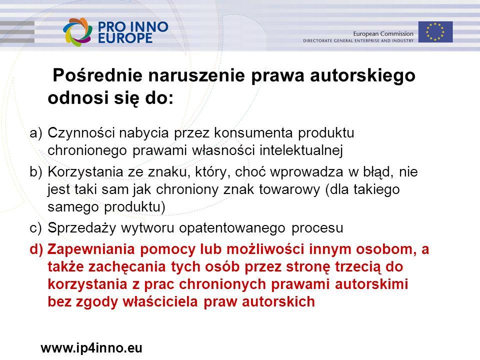"""www.ip4inno.eu """"Działania organów celnych to: a)Działania podejmowane przez sąd w celu powstrzymania wejścia na rynek UE towarów naruszających b)Działania podejmowane przez organy celne na podstawie wniosku właściciela praw IP lub z urzędu c)Działania podejmowane przez prokuratorów w czasie gromadzenia dowodów w sprawie karnej dotyczącej IP"""