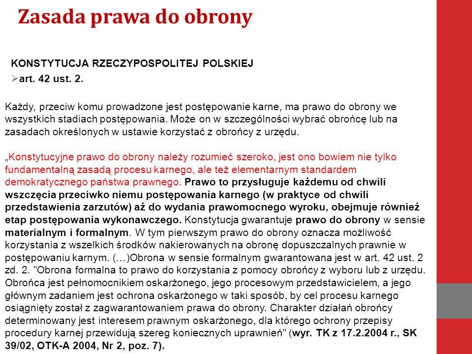 KONSTYTUCJA RZECZYPOSPOLITEJ POLSKIEJ  art. 42 ust.