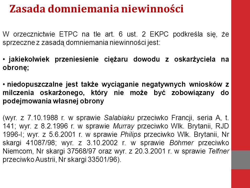 W orzecznictwie ETPC na tle art. 6 ust.