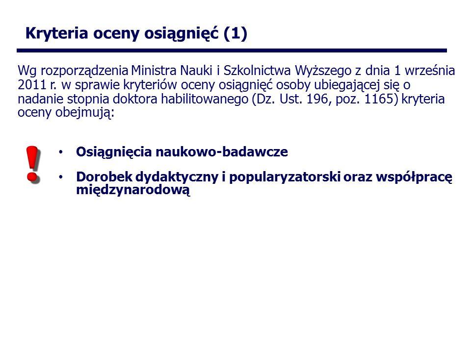 Wg rozporządzenia Ministra Nauki i Szkolnictwa Wyższego z dnia 1 września 2011 r.