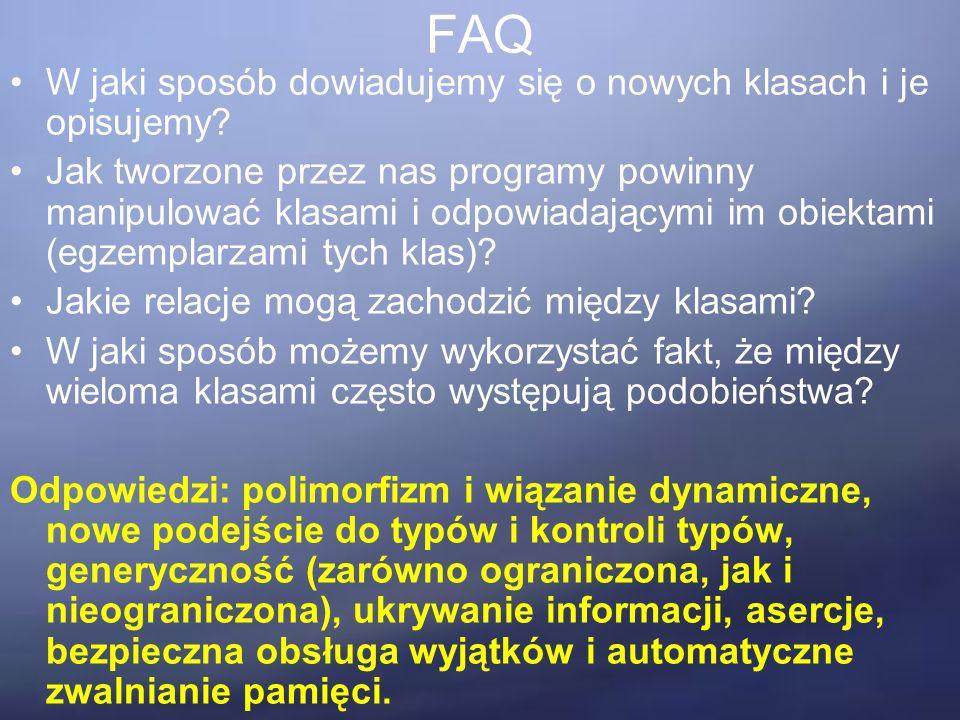 FAQ W jaki sposób dowiadujemy się o nowych klasach i je opisujemy.