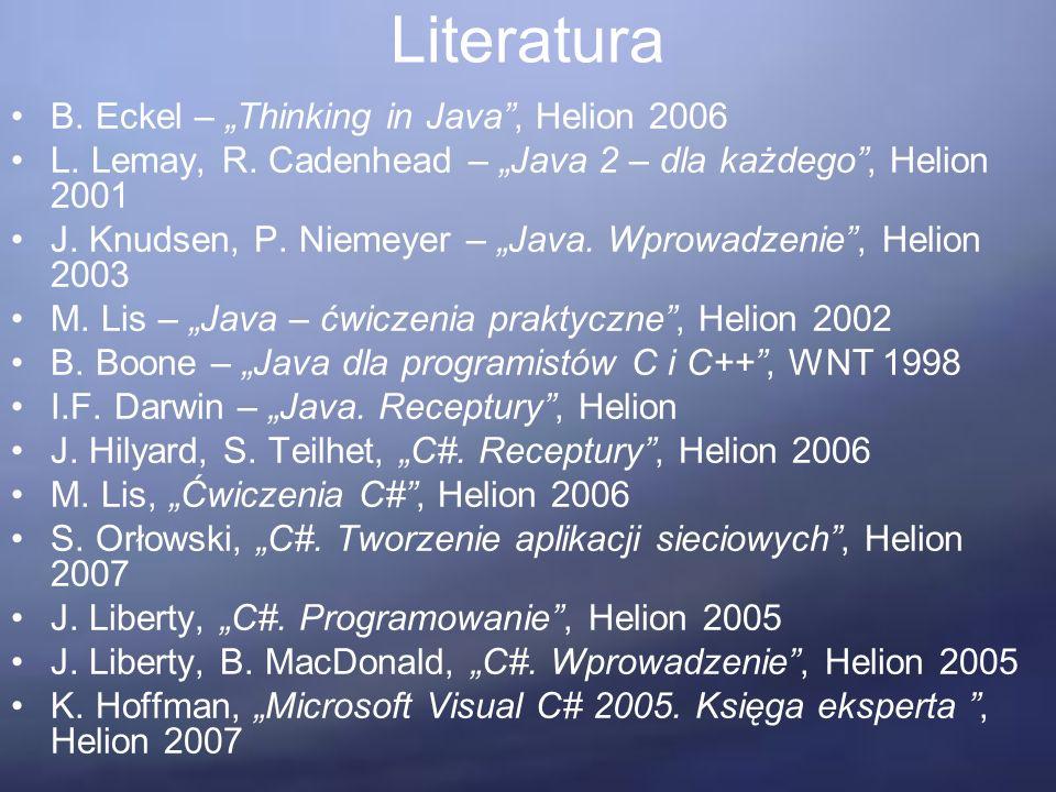 Kryteria obiektowości – Technika i język Klasy jako moduły – klasy powinny być jedynymi modułami, ponieważ obiektowość jest przede wszystkim techniką architektoniczną.
