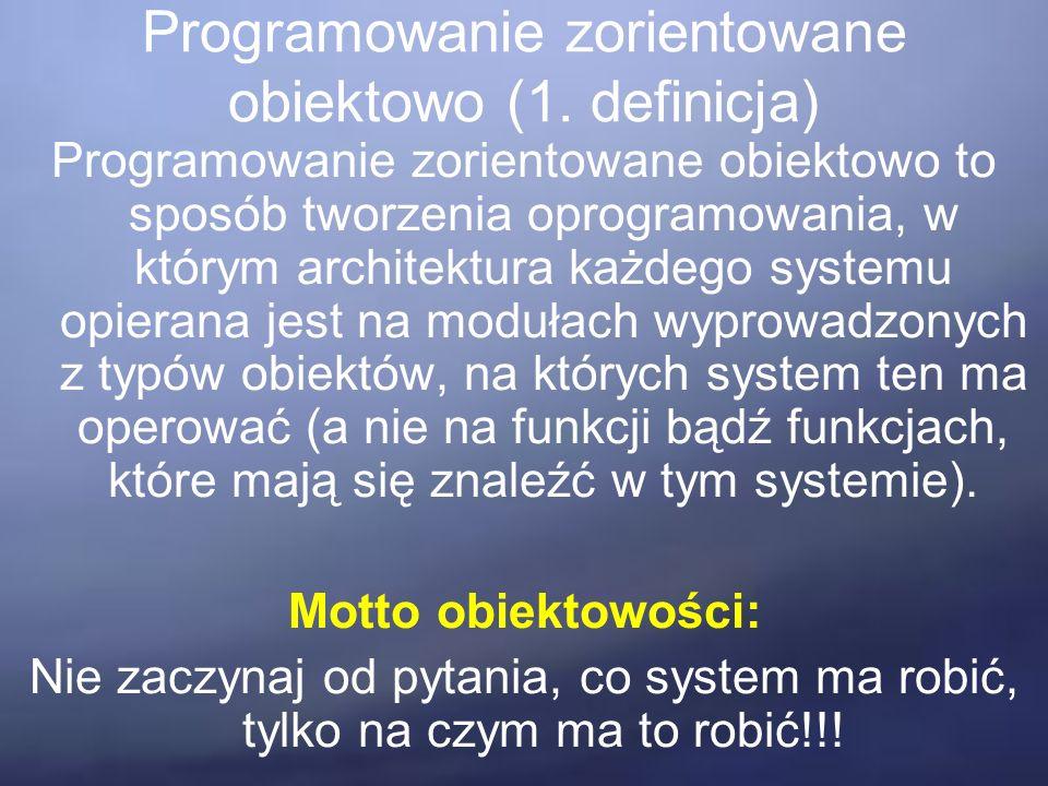 Programowanie zorientowane obiektowo (1.