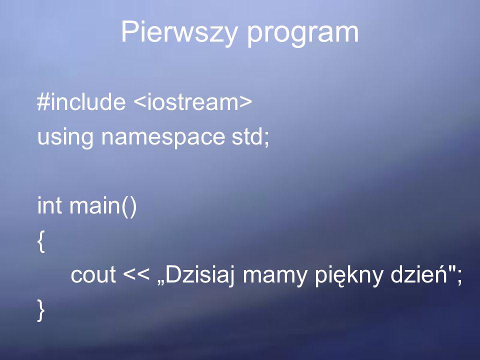 Systemy klas = gotowy do wykonania kod Aby stworzyć system klas potrzebujemy trzech elementów: zbioru klas CS, zwanego zbiorem klas systemu obrania którejś klasy ze zbioru CS jako klasy głównej wskazania procedury w klasie głównej, która jest procedurą tworzącą obiekt główny.