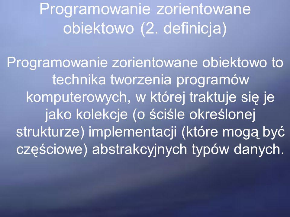 Programowanie zorientowane obiektowo (2.